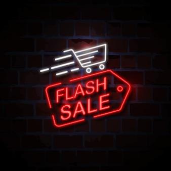 Ilustração de sinal de estilo de néon de venda instantânea