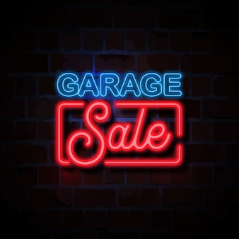 Ilustração de sinal de estilo neon preto venda sexta-feira