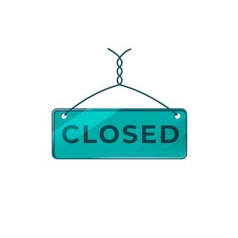 Ilustração de sinal fechado placa verde