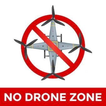 Ilustração de sinal proibido drone