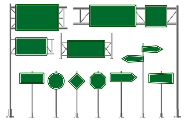 Ilustração de sinalização rodoviária