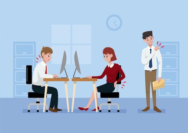 Ilustração de síndrome de escritório