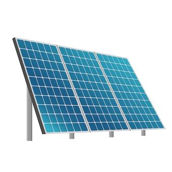 Ilustração de sistema de bateria solar eco
