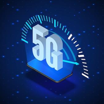 Ilustração de sistemas de rede sem fio 5g