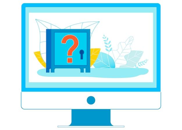 Ilustração de sistemas financeiros on-line questionável