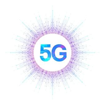 Ilustração de sistemas sem fio de rede 5g