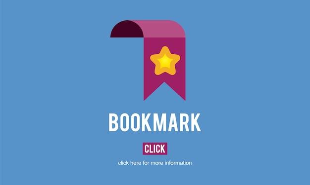Ilustração, de, site, bookmark