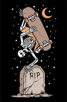 Ilustração de skate até a morte