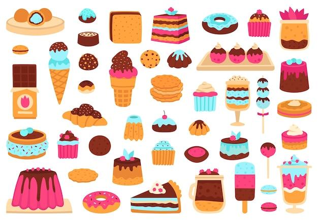 Ilustração de sobremesas doces