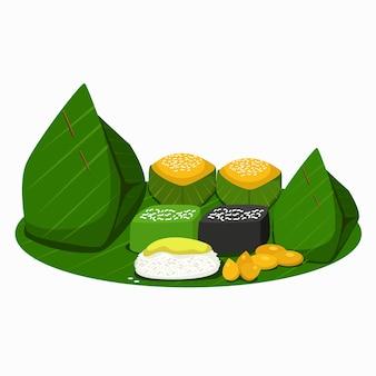 Ilustração de sobremesas tailandesas