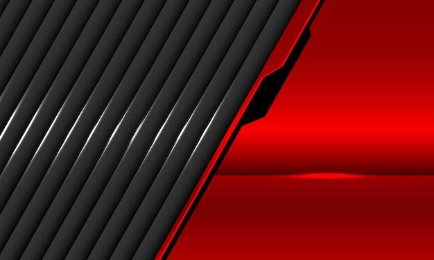 Ilustração de sobreposição metálica cinza vermelha abstrata