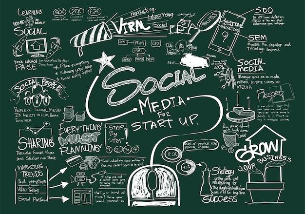 Ilustração, de, social, mídia, conceito