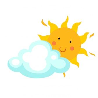 Ilustração, de, sol, vetorial
