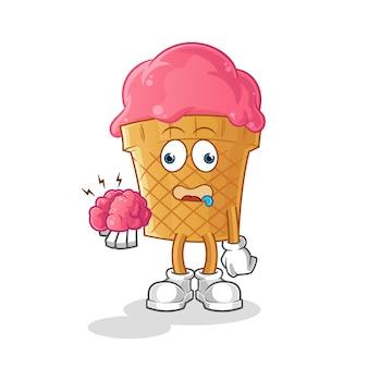 Ilustração de sorvete sem cérebro