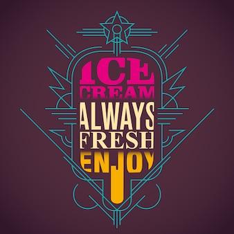 Ilustração de sorvete