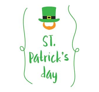Ilustração, de, St.Patrick, dia
