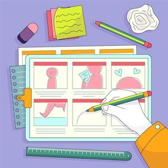 Ilustração de storyboard