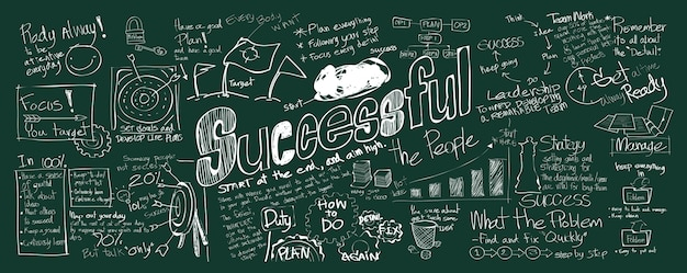 Ilustração, de, sucedido, conceito