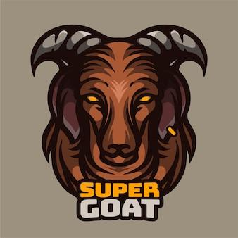 Ilustração de super cabra
