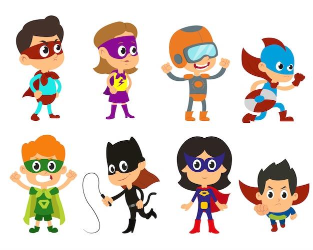 Ilustração de super crianças.
