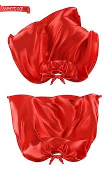 Ilustração de super-herói, capa vermelha