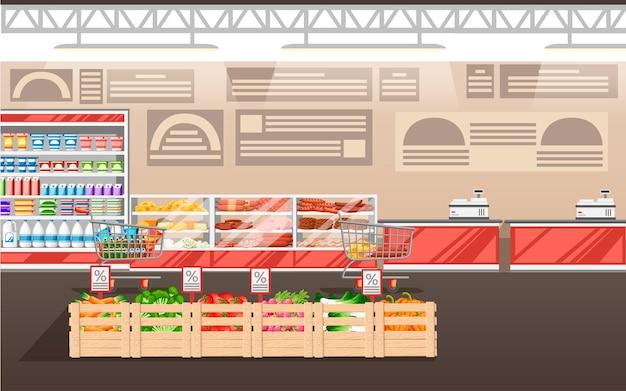 Ilustração de supermercado