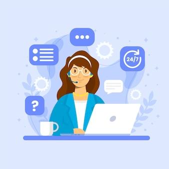 Ilustração de suporte ao cliente