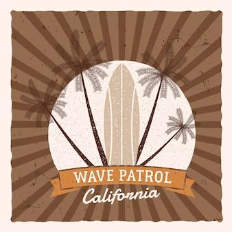 Ilustração de surf vintage