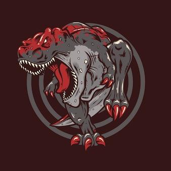 Ilustração de t rex
