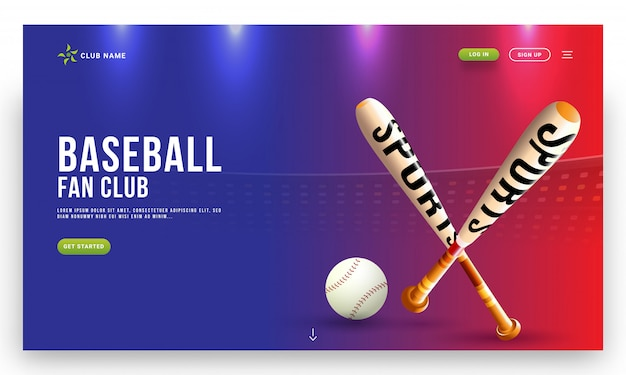 Ilustração de taco de beisebol e bola no estádio ver os antecedentes