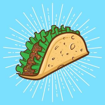 Ilustração de taco