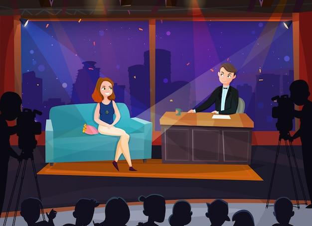 Ilustração de talk show