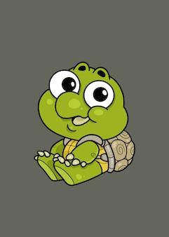Ilustração de tartaruga bebê