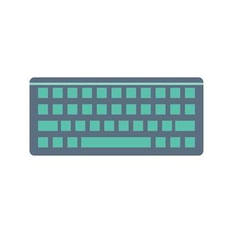 Ilustração, de, teclado computador