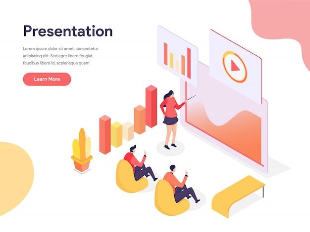 Ilustração de tecnologia de apresentação