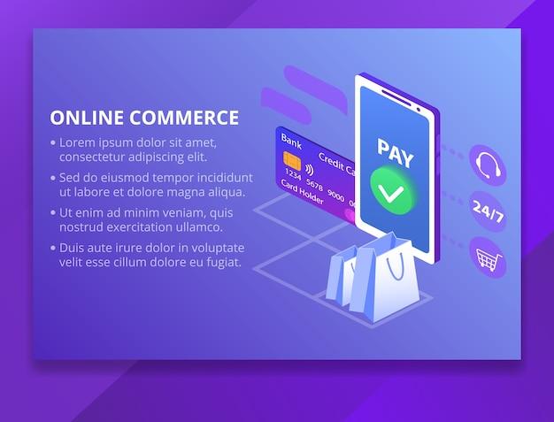Ilustração de tecnologia de comércio on-line