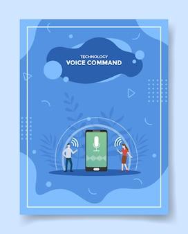 Ilustração de tecnologia de controle de voz