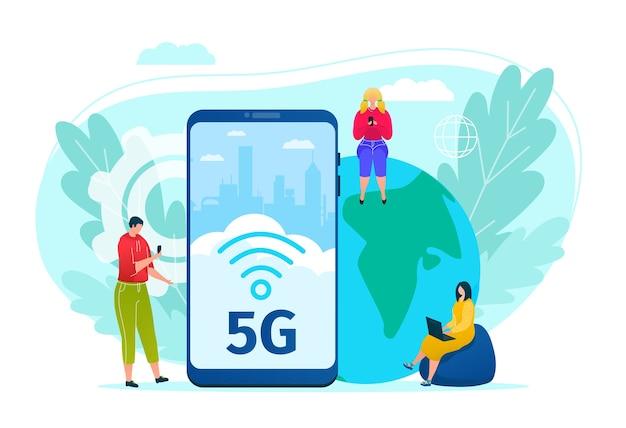 Ilustração de tecnologia de internet 5g