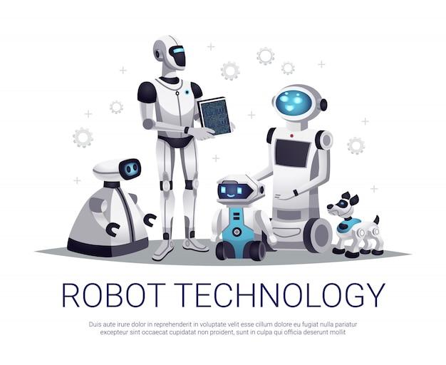 Ilustração de tecnologia de robô