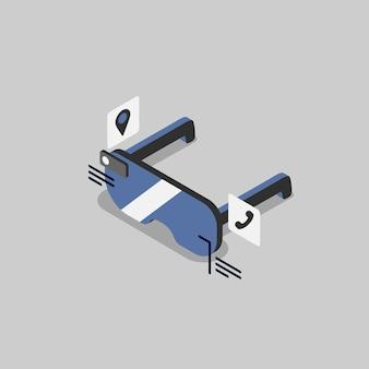Ilustração de tecnologia holográfica