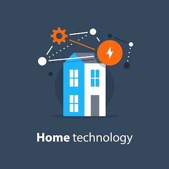 Ilustração de tecnologia inovadora para casa inteligente