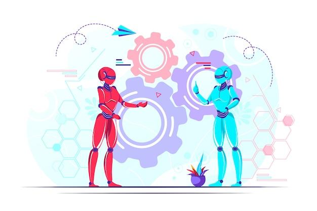 Ilustração de tecnologia nano