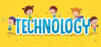 Ilustração de tecnologia para crianças