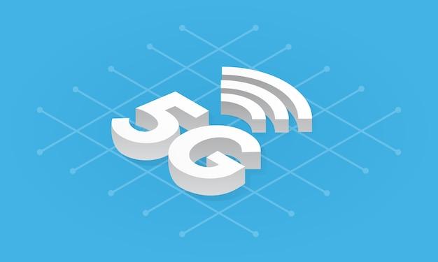 Ilustração de tecnologia sem fio de rede 5g