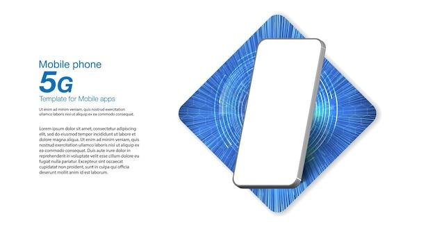 Ilustração de tecnologia sem fio rede 5g