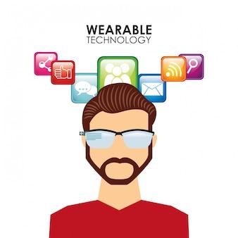Ilustração de tecnologia vestível