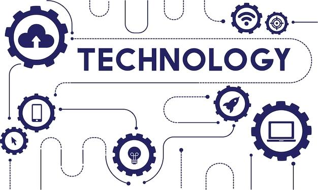 Ilustração, de, tecnologia, vetorial