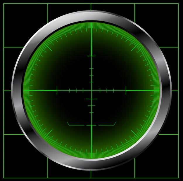 Ilustração de tela de radar