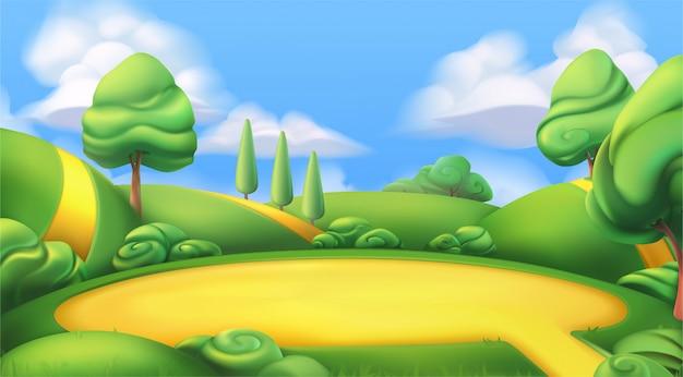 Ilustração de terra dos desenhos animados
