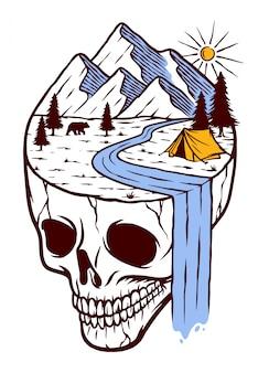 Ilustração de terra misteriosa